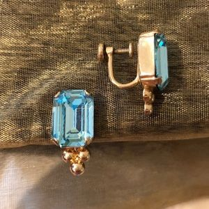Jewelry - Non pierced Blue Aquamarine earrings